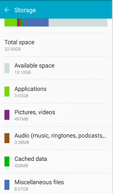 """Anyone getting a mesage saying, """"Low memory."""" on the Galaxy S6?-storage.png"""