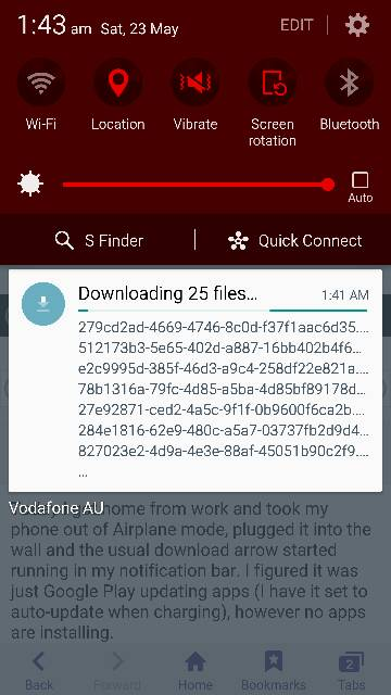 My download manager started to randomly download files  WHY