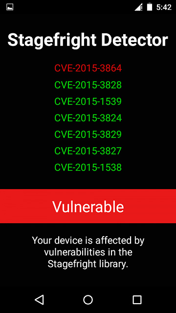 I have Android 5.1.1 in my device. Stagefright vulnerable found in my device. How can I protect ?-screenshot_2015-08-25-17-42-08.png
