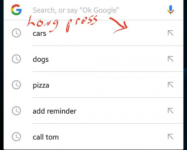 How do i delete google search history items with crooked arrow to the left-1461710900394.jpg