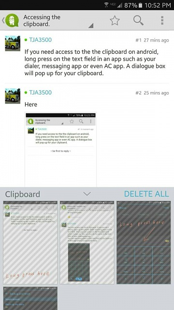 Where is the clipboard on this samsung s6 & how do i delete this junk-1461988901592.jpg
