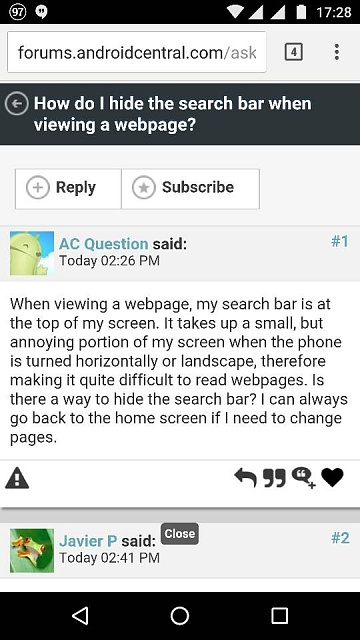 How do I hide the search bar when viewing a webpage?-1464813151765.jpg