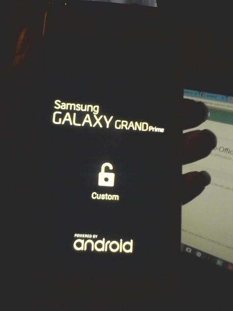 What does the lock symbol at the start up screen on the Samsung Galaxy Grand Prime mean-img_20160929_221343.jpg