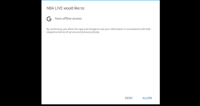 This App I have say it would like to have offline access. When I press allow it keeps popping up?-170209_212822.png
