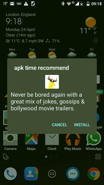 apk time recommend