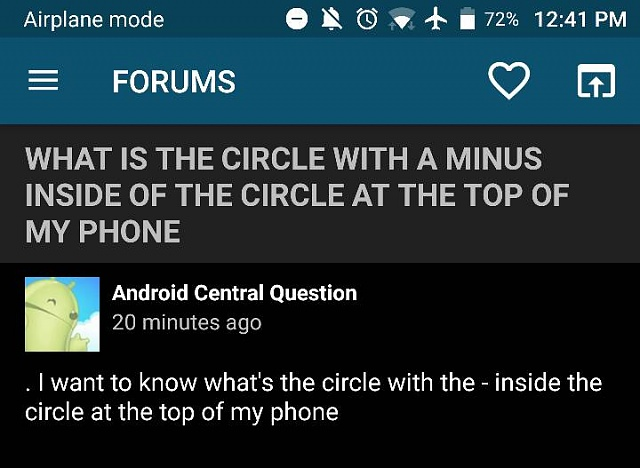 What is the circle with a minus inside of the circle at the top of my phone-20565.jpg