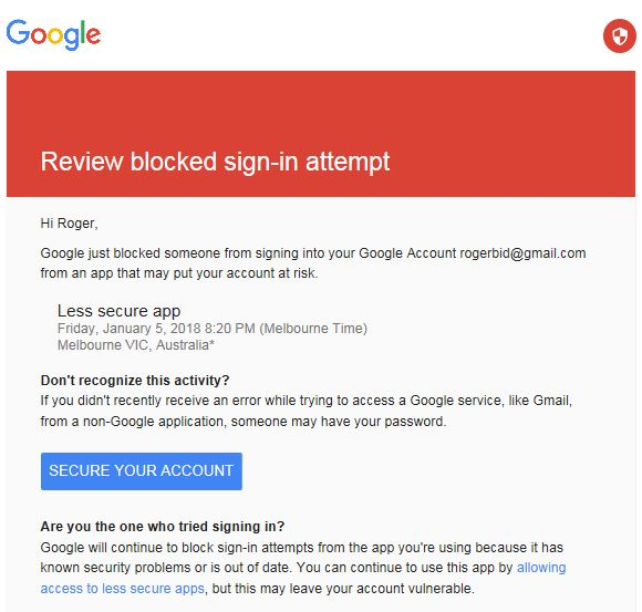 Has Google decided Mail app is unsafe - Android Forums at