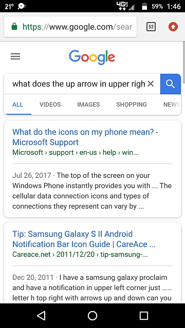 What is the red circle with white arrow in the upper right corner of browser Droid turbo 2?-screenshot_20180112-014606.jpg