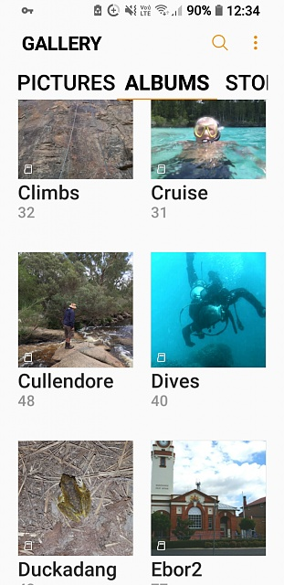 how do I change my gallery albums from list to grid view on Galaxy S7 Edge-screenshot_20180217-123418.jpg