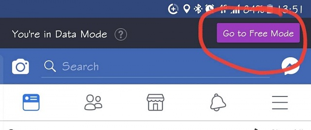 i accidentally disabled my facebook button for switching