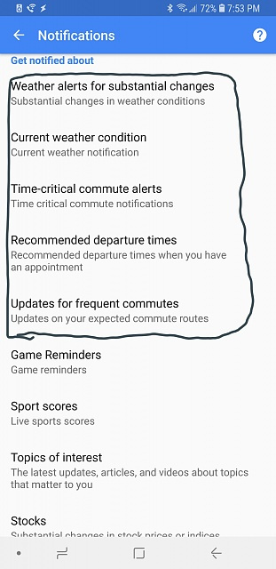 Google feed doesnt show time to leave or weather cards-20180707_195409.jpg