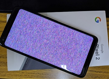 Pixel 2 xl  screen shows color pixels (see picture)-dfg.jpg