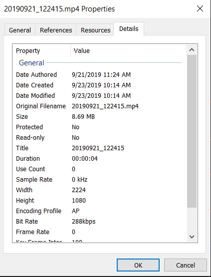 Why doesn't the create date correspond to the date in details?  There is a 5 hour difference.-windows-10-file-explorer-meta-data-ghost-video-415.jpg