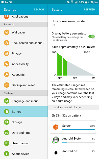 My battery is draining 1% per 3-4 minutes. My device is Samsung Galaxy Tab model A6.-screenshot_2020-03-21-17-50-10.png