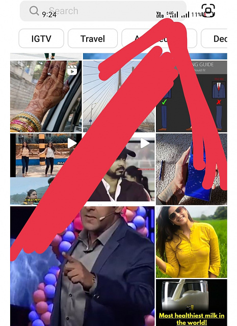 Instagram explore page is overlapping with notification bar-img_20210613_130206.jpg