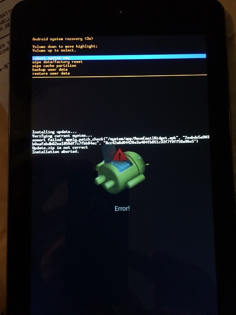 New MeMO Pad HD7 - cannot install update    - Android Forums