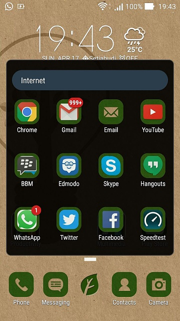 Email widget android not updating