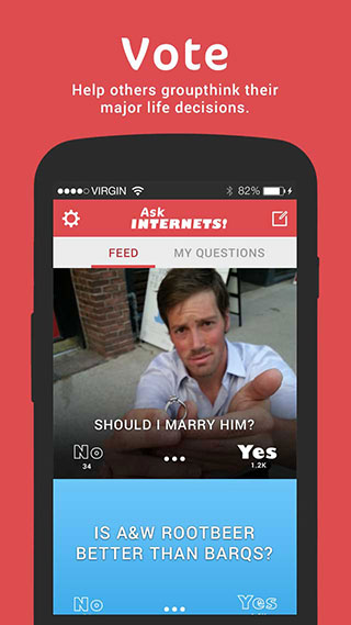 Free Redbox code for feedback on AskInternets - An App for groupthinking your life decisions!-android-store-vote.jpg