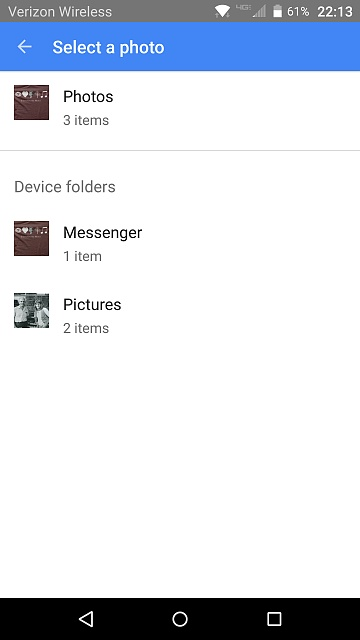 Google Photos not showing in Hangouts or Messenger apps on VZW Priv, why?-screenshot_2016-03-16-22-13-41.jpg
