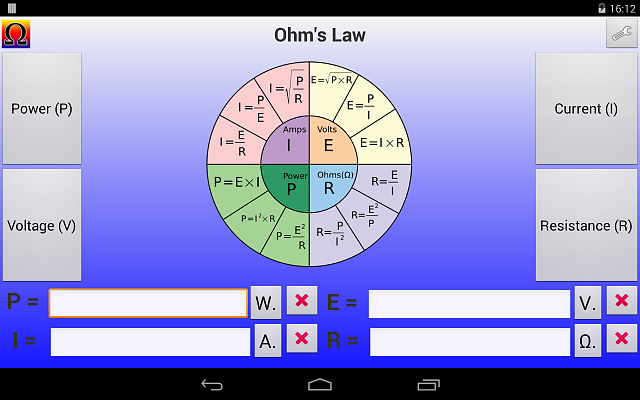 Ohm's Law Calculator for Electronics/Electrical Tools.  - Looking for TEST.-ohmslaw1_main_tablet_land.png