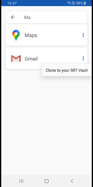 [BETA] SRT Vault  - Multiple Accounts, Data Security, Work Profile-06-cloning-search.jpg