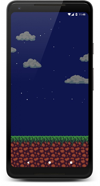 [Live Wallpaper] Pixel-style Live Wallpaper with dynamic sky (location-based)-screenshot_1533988099_framed.jpg