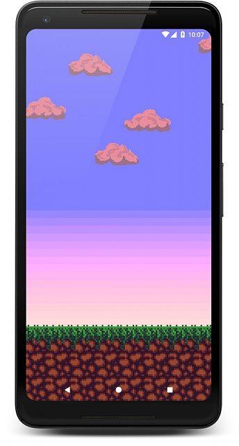 [Live Wallpaper] Pixel-style Live Wallpaper with dynamic sky (location-based)-screenshot_1534025246_framed.jpg