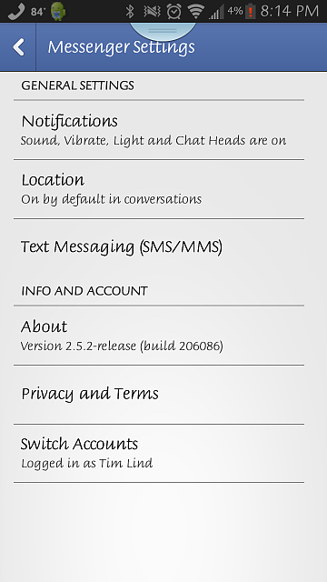 chat heads for sms equipment
