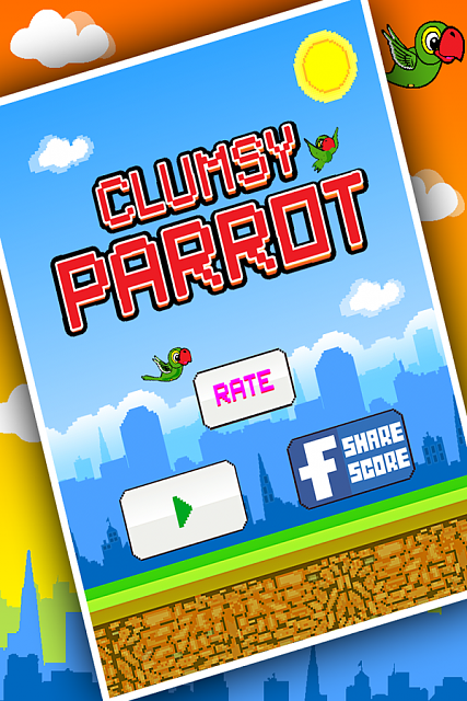[FREE NEW GAME FOR FLAPPY LOVERS] Clumsy Parrot - Extreme Jumps-clumsy1.png