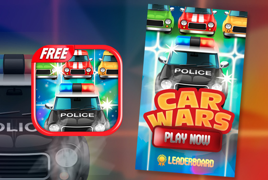 [FREE] Motor Car Wars - Addictive Match 3 Car Game-greeze_carwars_480x800_deliverypreview.jpg