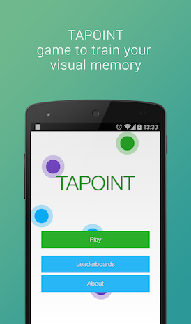 [GAME][FREE] Tapoint - Visual Memory Game-screen_main_en.png