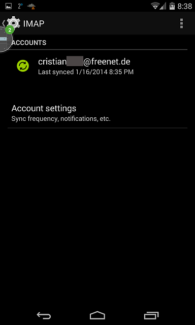 Android kitkat 4 4 problems using google account and google imap for