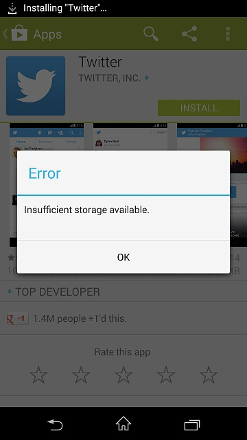 Insufficient Storage Available On New Xperia Z1 Screenshot 2017 03 13 22