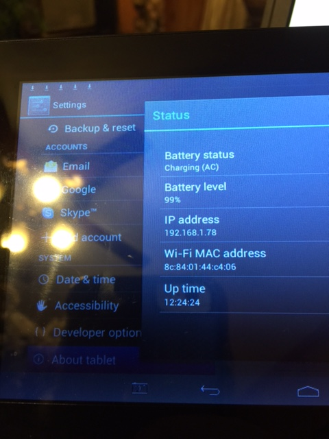 How do i find find RCA RCT6378W2 tablet serial number