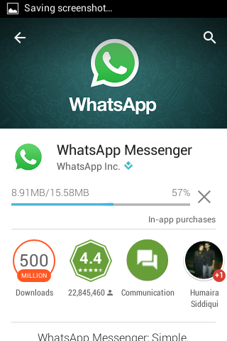 install whatsapp from play store