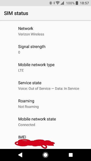 Phone says, Voice: out of service, Data:in service-2291.jpg