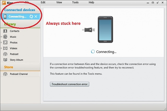 Samsung Galaxy S 2 syncing with Kies Kies Air and Backup