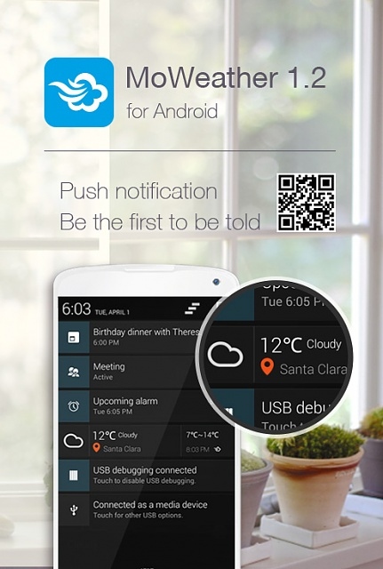 MoWeather for Android 1.2 Updated with Push Notification Feature-1.2-1.jpg
