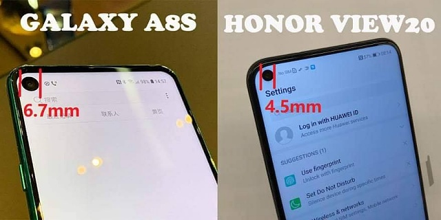 Hole screen of Samsung A8s vs Honor View20 - Android Forums