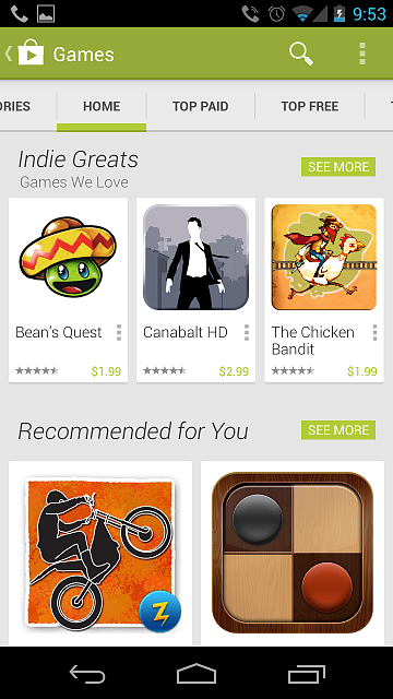 New Version Of The Google Play Store Screen Shots