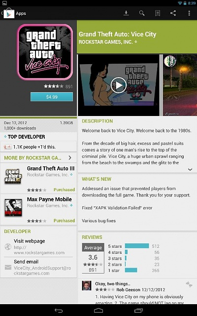Vice city back up in play store on my nexus 10... Not on other devices yet-uploadfromtaptalk1355364228001.jpg