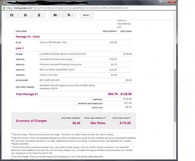 T-Mobile Business service sells Nexus 4 (16gig)  for 0 with 2yr contract-order_invoice.jpg