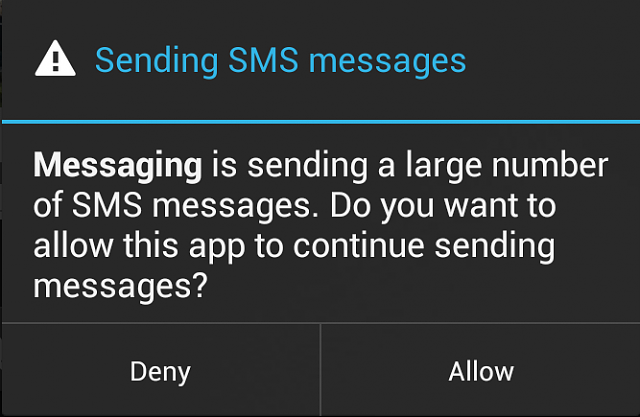 Messaging is sending a large amount of messages