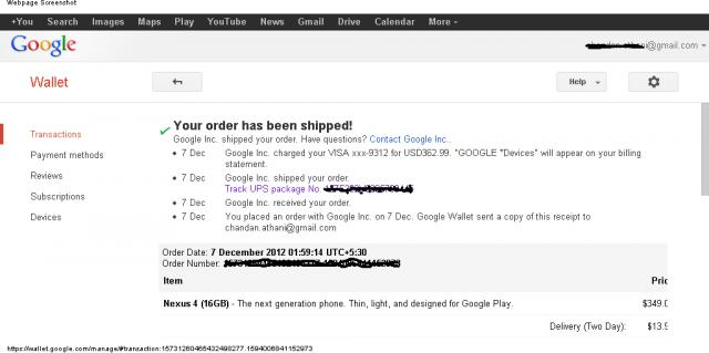 Are you still hoping the order made on Nov. 13/27 ? Re-order it and N4 will be yours for 3 days-google_wallet-155347.jpg