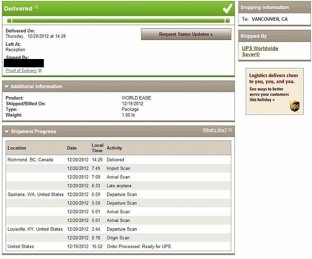 Canadian Nexus 4 Ordered On December 3rd - Order Status and Tracking-ups.jpg