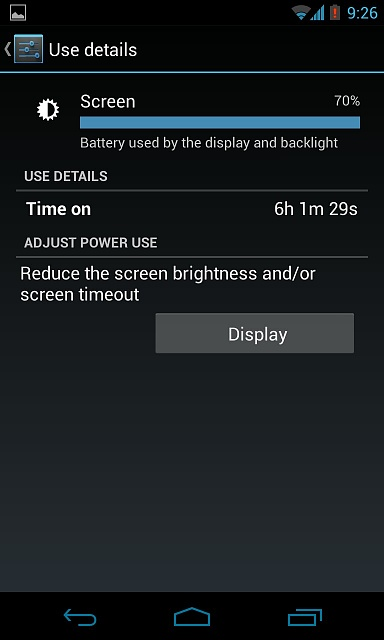 -------Nexus 4 Battery Life (Horrible, Major drainage!)--------uploadfromtaptalk1369709708849.jpg