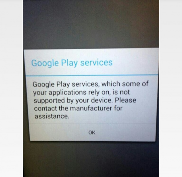 google play services not supported by your device xiaomi