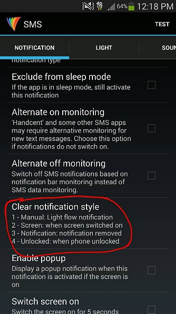 Light Flow LED notification keeps blinking even after I check my text message-1396541943035.jpg