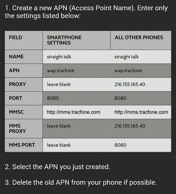 MMS Straight Talk Issue  CORRECT APN SETTINGS - Page 3