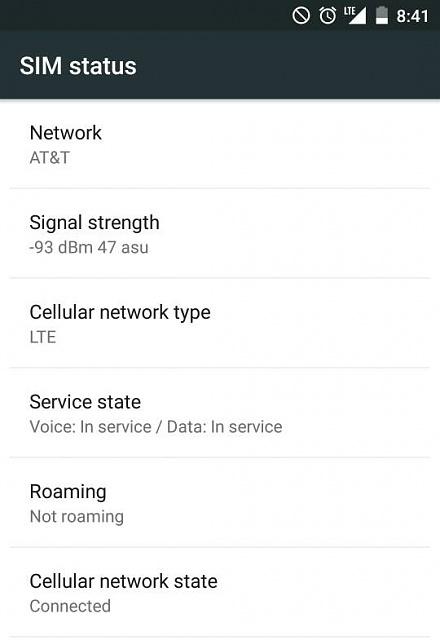 Cell Signal Strength Chart